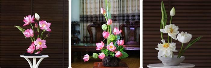 Cách cắm hoa sen trên bàn thờ để hợp phong thuỷ  2047381939