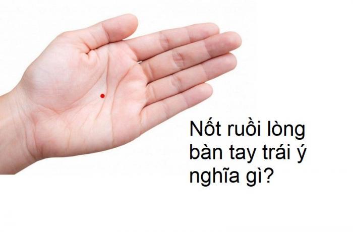 Tiết lộ ý nghĩa nốt ruồi trong lòng bàn tay trái 796944607