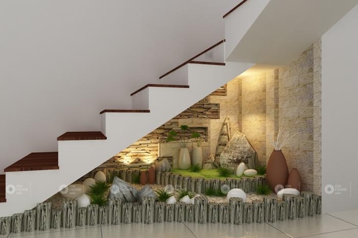 Những cách trang trí gầm cầu thang theo phong thủy 571299189